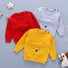Baby Sweaters for Boys Winter Clothes Autumn Casual Newborn Knit Pullovers Jumpers Grey Long Sleeve Infant Knitwear Toddler Tops