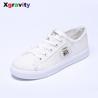 Hot Sales New Fashion Denim Flat Shoes Elegant Comfortable Lady Casual Canvas Shoes Leisure Woman S