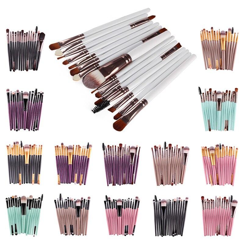 MAANGE 15Pcs Makeup Brushes Set Professional Powder Eye Shadow Foundation Blush Cosmetic Make Up Brush Pinceaux Maquillage