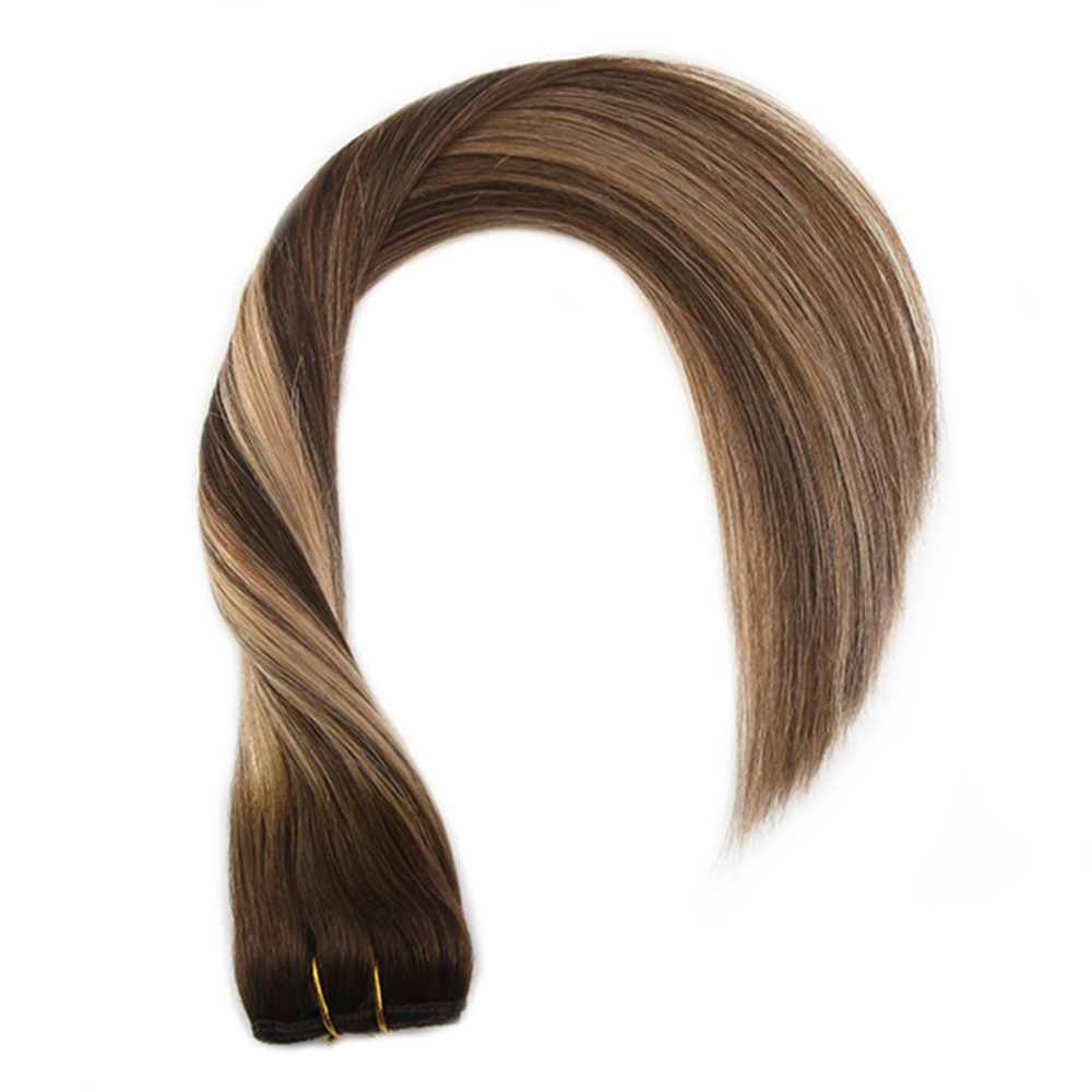 Moreso One Pieces Clip In Hair Extensions Brown 4 Mixed With