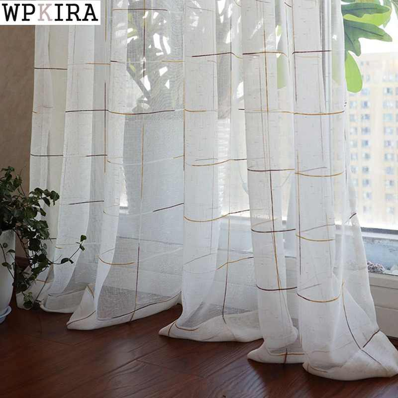 white tulle curtain for living room and for bedroom tulle curtain white curtain new style custom made size free shipping M053&30