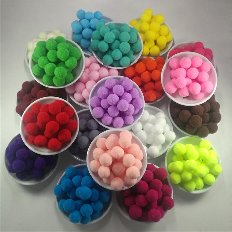 Pompom Wholesale 10 15 20 25 30 mm Fur Plush Ball for Craft DIY Soft Wedding Home Decoration Garment Sewing on Cloth Accessories