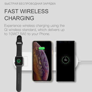 Image 3 - ESVNE 3 IN 1 QI Wireless Charger For iPhone X Xr XS Max Fast Charging For Apple Watch 1 2 3 4 AirPods charger For Samsung