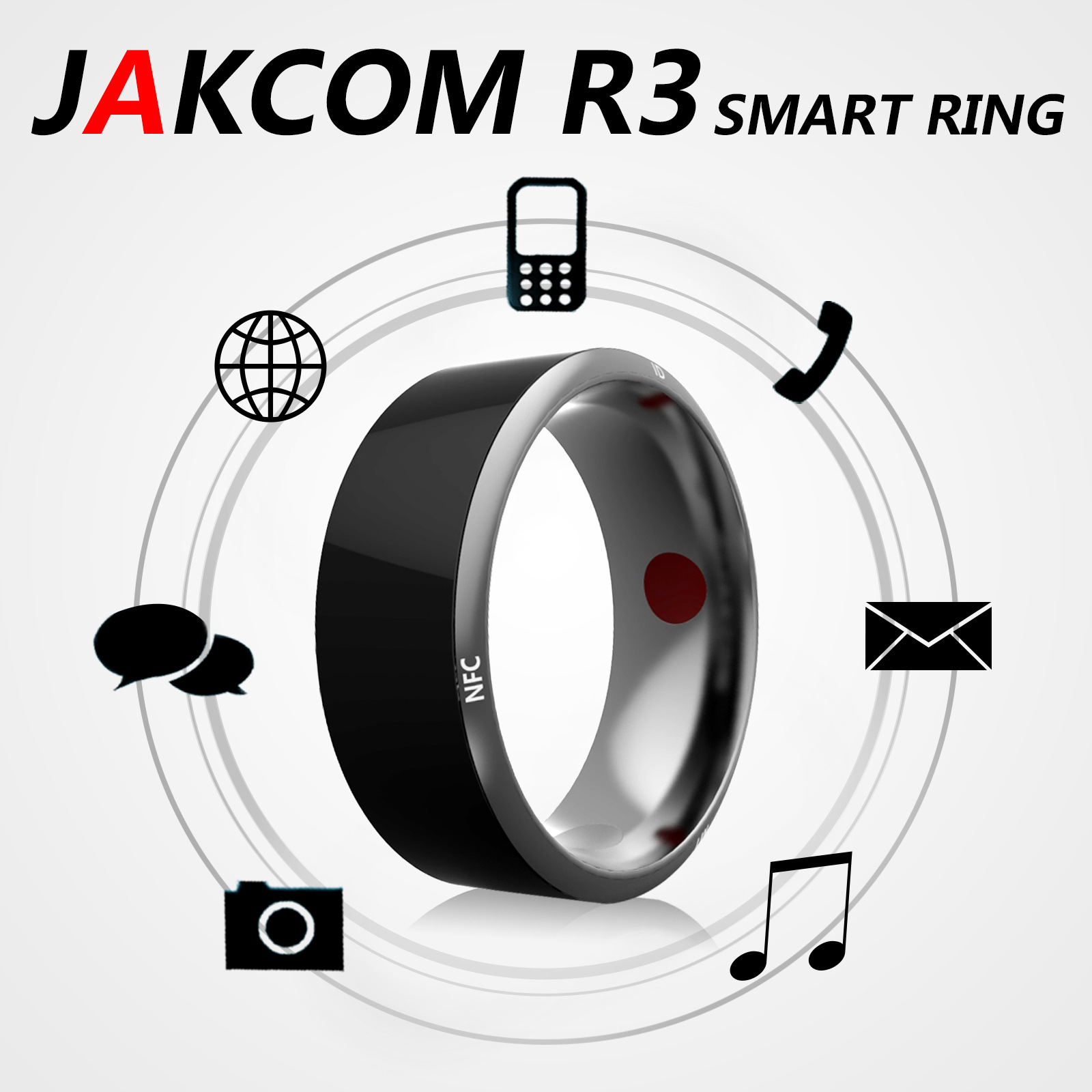 Jakcom R3 Smart Mini Magic Ring Electronic CNC Metal RFID NFC 125khz 13.56mhz IC/ID Rewritable Simulation Access Card Tag Key