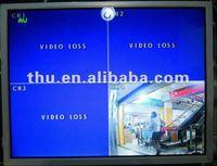 warranty 1 year new stock 15 inch 1024*768 1*VGA 3*BNC 1*HDMI DC 12V input CCTV monitor for CCD/COM COM camera