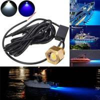 6W Marine Yacht Drainage Lights 12/24V NPT LED Underwater Boat Drain Plug Lights Marine Yacht Drainage Lamp