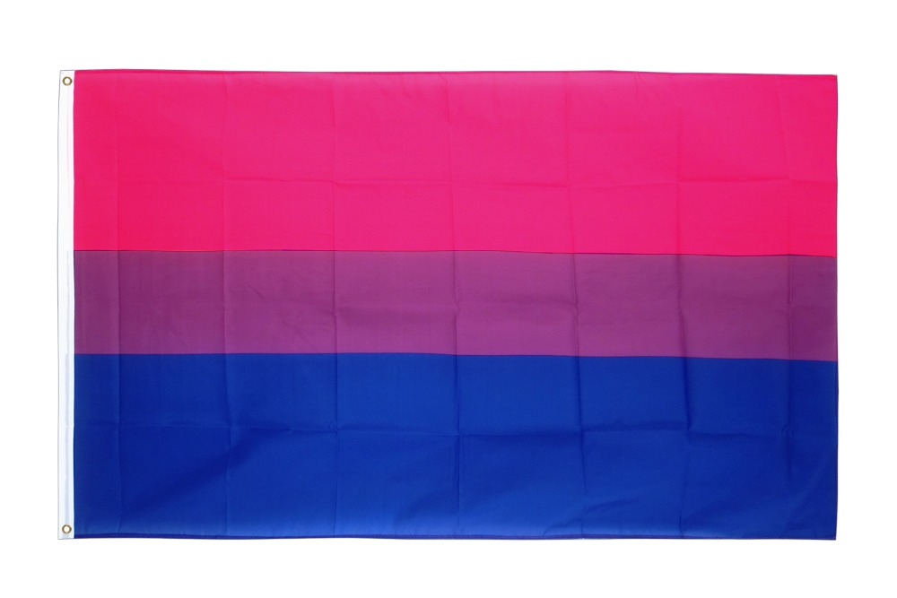 Xiangying Hanging 90*150cm LGBT Bi Pride Bisexual Flag For Decoration