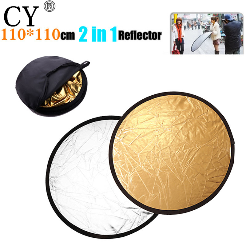43 110cm 2in1 Handheld Portable Collapsible Light Round Photography Reflector Studio Multi Disc Photo Studio Accessories
