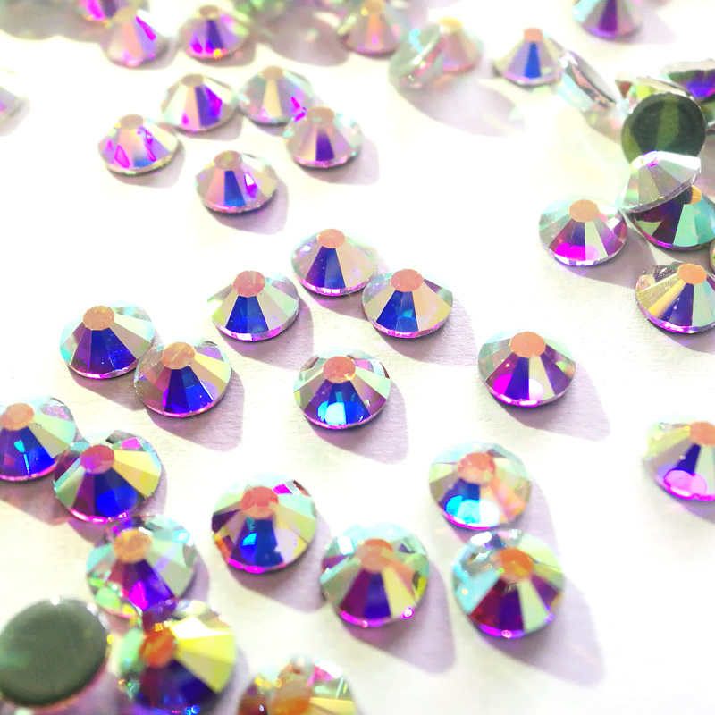Hot Fix Iron On Rhinestones For Clothes SS12 SS16 SS20 SS30 SS40 SS50 Glass DIY Glass Crystal AB HotFix Strass Stone in Rhinestones from Home Garden