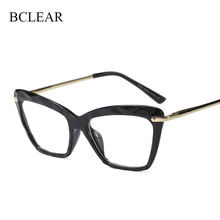 BCLEAR Women Brand Designer Cat Eye Eyeglasses Optical Spectacles for Lady Transparent Eyewear Glasses Frame Fashion Styles