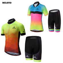 MILOTO Team High Quality Men Womens Bike Bicycle Comfortable Jersey Set  Ropa Ciclismo Couple Cycling Clothing e50754d0a