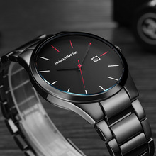 цена на Elegant Luxury Men Watches Dress Stainless Steel 2020 Men's Quartz Wrist Watch Male Date Military Sport Clock Relogio Masculino