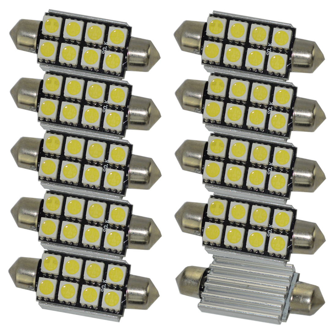 10pcs c5w <font><b>42mm</b></font> <font><b>LED</b></font> Festoon <font><b>Canbus</b></font> Error Free 8 SMD 5050 Car <font><b>LED</b></font> interior Dome Lamps 41mm <font><b>LED</b></font> Bulbs Auto License Plate Lights