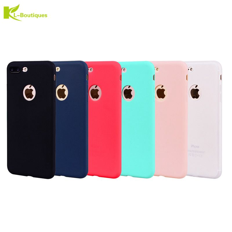KL Boutiques Colorful Candy TPU Case For Fundas iPhone 8 Plus For Coque iPhone8 7 6
