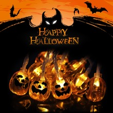 Halloween Props 1M LED Strängar Light Holiday Creative Dekorativa Lampor Fairy Garlands Party Prop Pumpa Ghost Eyes Skull L