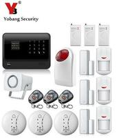 YobangSecurity Russian French Spanish Dutch APP Control Touch Screen GPRS WIFI GSM Home Security Alarm System with IP Camera