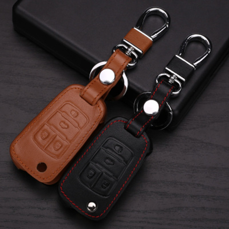 VCiiC Leather Car Key Cover Cases Fit Chevy Tahoe Suburban//Cadillac Escalade//GMC Yukon,etc