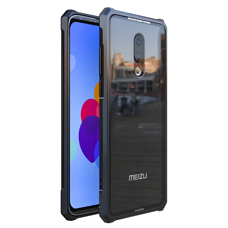 Image 4 - Rezzol For Meizu 16th Case Transparent Tempered Glass Metal Bumper Protective Hard Cover Case For Meizu 16th plus Meizu 16 Capa-in Fitted Cases from Cellphones & Telecommunications