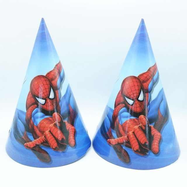ธีม Spiderman party กระดาษ/จาน/ถ้วย/ผ้าเช็ดปาก/ธง/กล่องขนมฟาง Disposable tableware Baby Shower วันเกิดตกแต่งงานปาร์ตี้