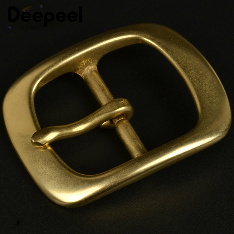 Deepeel 38mm Solid Brass Belt Buckle For Men Women Metal Pin Buckle Head For Belt 36-37mm DIY Leather Craft Jeans Accessories