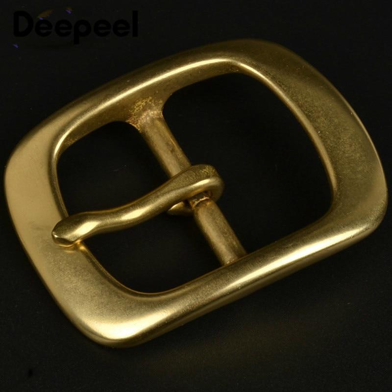 Deepeel 38mm Solid Brass Belt Buckle For Men Women Metal Pin Buckle Head For Belt 36-37mm DIY Leather Craft Jeans Accessories