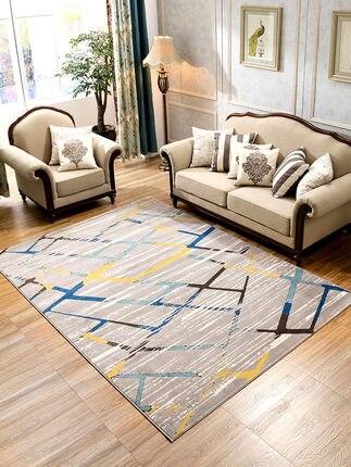 Ins tapis salon table basse chambre pleine couverture de chevet salle de mariage simple moderne Nordique géométrique maison tapis