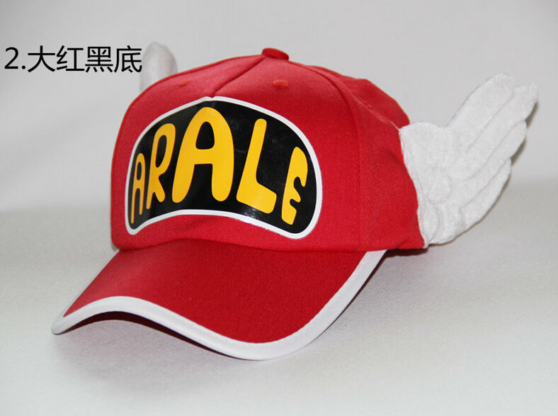 Anime Cosplay Hats Dr.Slump Arale Angel Wings Summer Cap for Adult Size 32af10a1a44c