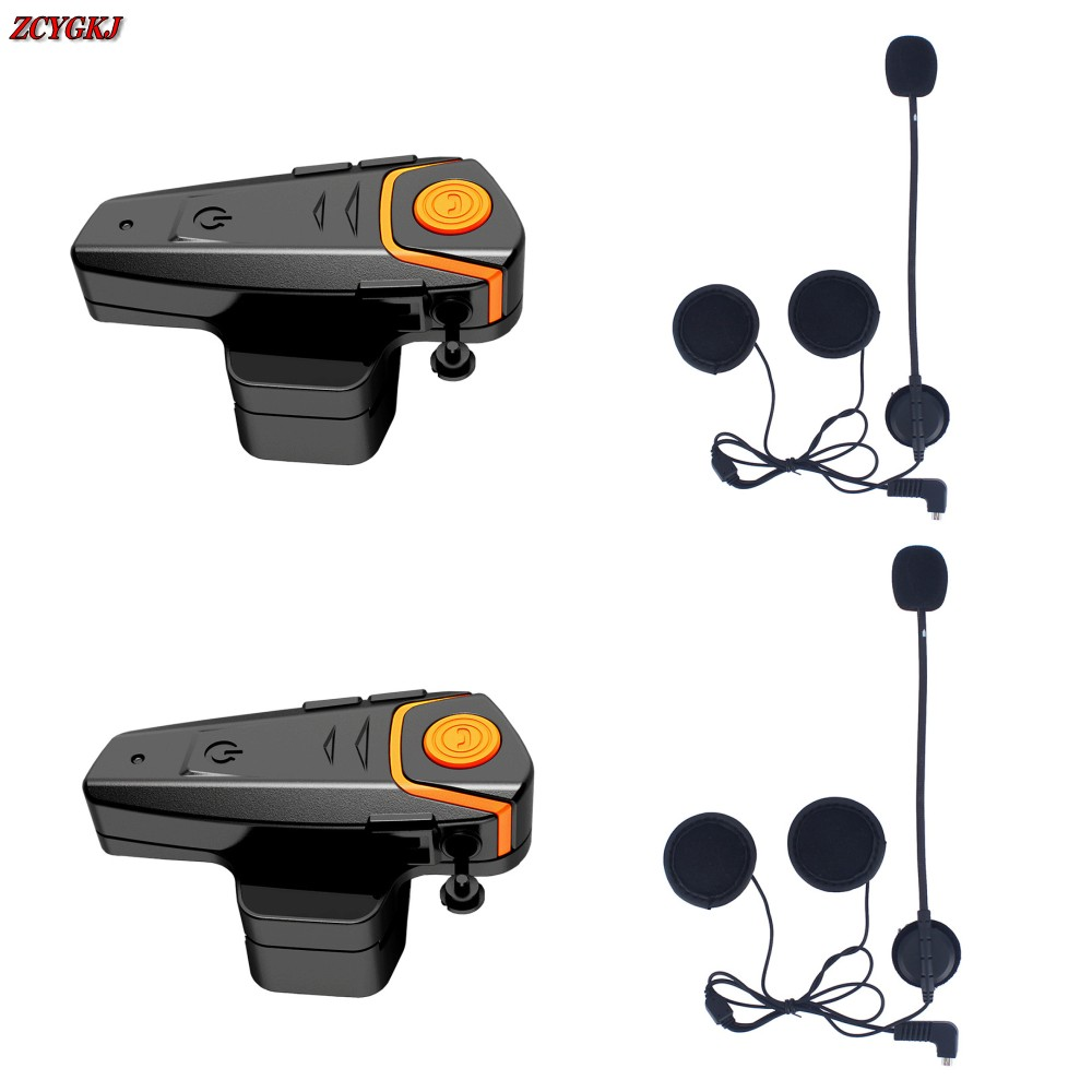 2 pcs Waterproof Original Motorcycle Moto Wireless Bluetooth Helmet Intercom Interphone Headset with FM function BT-S2 2pcs bt s2 intercom 1000m motorcycle helmet bluetooth wireless waterproof headset intercom earphone 2 riders interphone fm radio