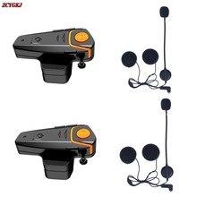 2 шт. Водонепроницаемый Оригинальный Мотоцикл Moto Беспроводная Связь Bluetooth Шлем Интерком Домофонных Гарнитура с функцией FM BT-S2