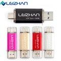 Leizhan tipo-c otg usb 3.0 flash drive 64 gb pen drive de alta velocidad 32G USB Stick Mini Pendrive Flash Drive 16G Para Android teléfono