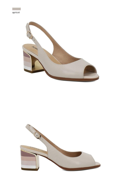 HTB1JhvNC7SWBuNjSszdq6zeSpXaE SOPHITINA Sandals Handmade Genuine Leather 2019 New Sexy Lady Peep Toe Sandals Square Heel Buckle Strap Classics Shoes Woman S22