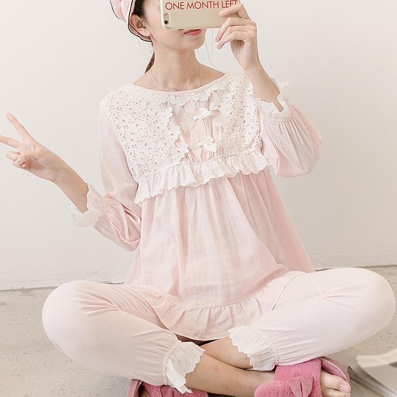 Maternity Nightwear Korean Pregnant Clothing Cotton Breastfeeding Sleepwear Pregnancy Clothes Pregnancy Pyjama Homewear SetMaternity Nightwear Korean Pregnant Clothing Cotton Breastfeeding Sleepwear Pregnancy Clothes Pregnancy Pyjama Homewear Set