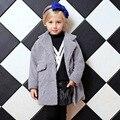 Crianças Outono e Inverno Outerwear Novo Design 2016 Candydoll Confortável Imitado tecidos de lã de Alta Qualidade Casacos de Meninas