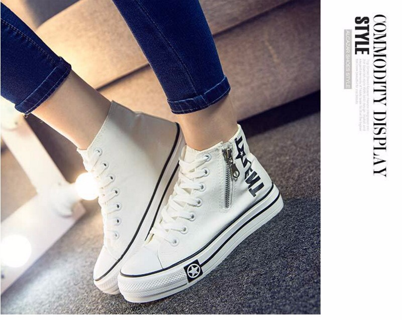 Free Shipping Spring and Autumn Men Canvas Shoes High Quality Fashion Casual Shoes Low Top Brand Single Shoes Thick Sole 7583 -  -  -  -  (2) -  -  -  -
