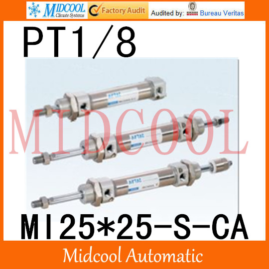 MI Series ISO6432 Stainless Steel Mini Cylinder  MI25*25-S-CA  bore 25mm port PT1/8 купить в екатеринбурге переходник mini iso