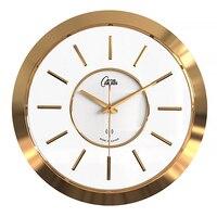 Большие радио новые роскошные часы зеркало из розового золота металлические большие настенные часы современный дизайн Oclock Duvar Saat часы прос