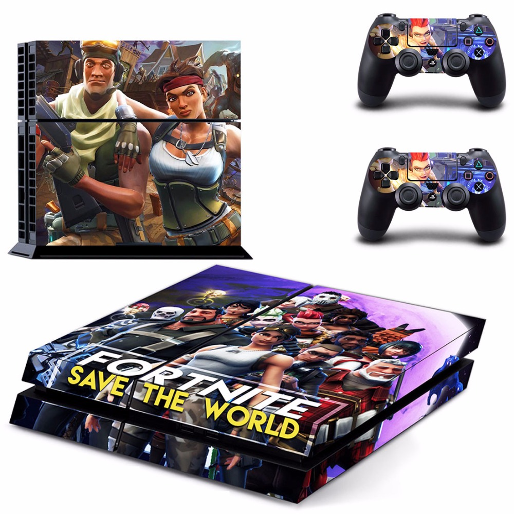 Game Fortnite PS4 Skin Sticker Decal For Sony PlayStation 4 Console and 2 Controllers PS4 Skins Sticker Vinyl