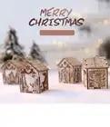 Рождественские деревянные декорации огни лося дом реквизит магазин украшение на окно, искусственный цветок Бар украшения интерьера