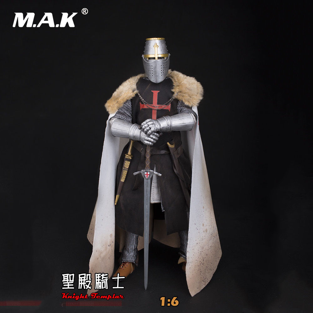 1/6 ZH006 Medieval Templar Knight Soldier Action Figure Model Toys for Collection Gift