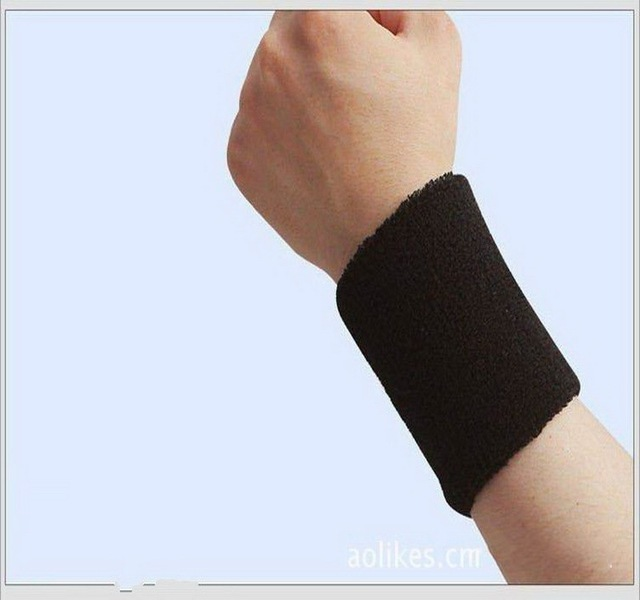 8*7.5 terry cloth wristbands sport sweatband hand band for gym badminton polsini tennis sweat wrist support brace wraps guards