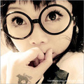 2016 Direct Selling Special Offer Acetate Fan Ye With Big Glasses Without Lenses Frame Star Retro Round Self Spectacle 8803