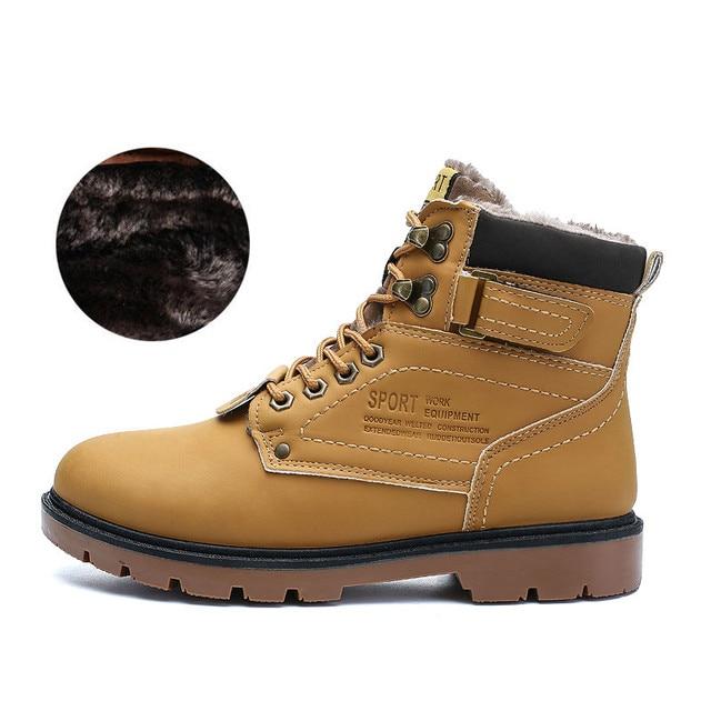 JKPUDUN Winter Ankle Snow Boots Men