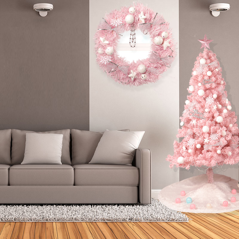 HOYVJOY 150cm Luxury Christmas Tree Pink Flocking Home Decorations New Year Gift Wholesaler Customizable in Trees from Home Garden