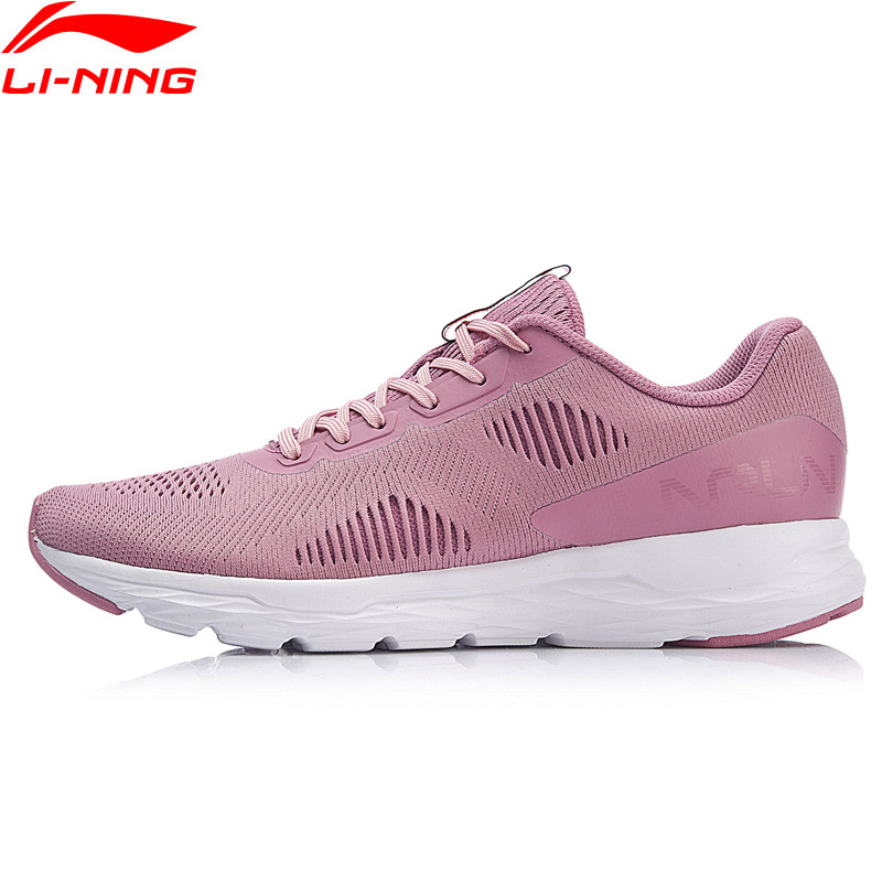 Li-Ning Women ACE RUN Running Shoes Light Weight Breathable Wearable Anti-Slippery LiNing Sport Shoes Sneakers ARBN028 XYP757 li ning professional badminton shoe for women cushion breathable anti slippery lining shock absorption athletic sneakers ayal024