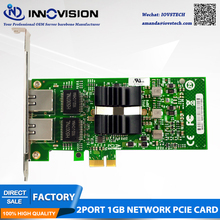 Intel82576 chip E1G42ET server dual port Gigabit LAN PCI-EX1 interface ROS soft routing expansion card for wincor nixdorf th200e interface card parallel port card