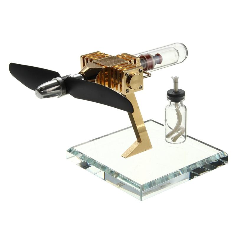 Nuevo motor de aire de avión motor generador innovador motor Stirling ciencia Juguetes nueva versión niños juguete educativo