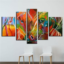 Hand Made Oil Painting On Canvas colored zebra art Modern pop Wall Art Living Room Decoration horse Picture