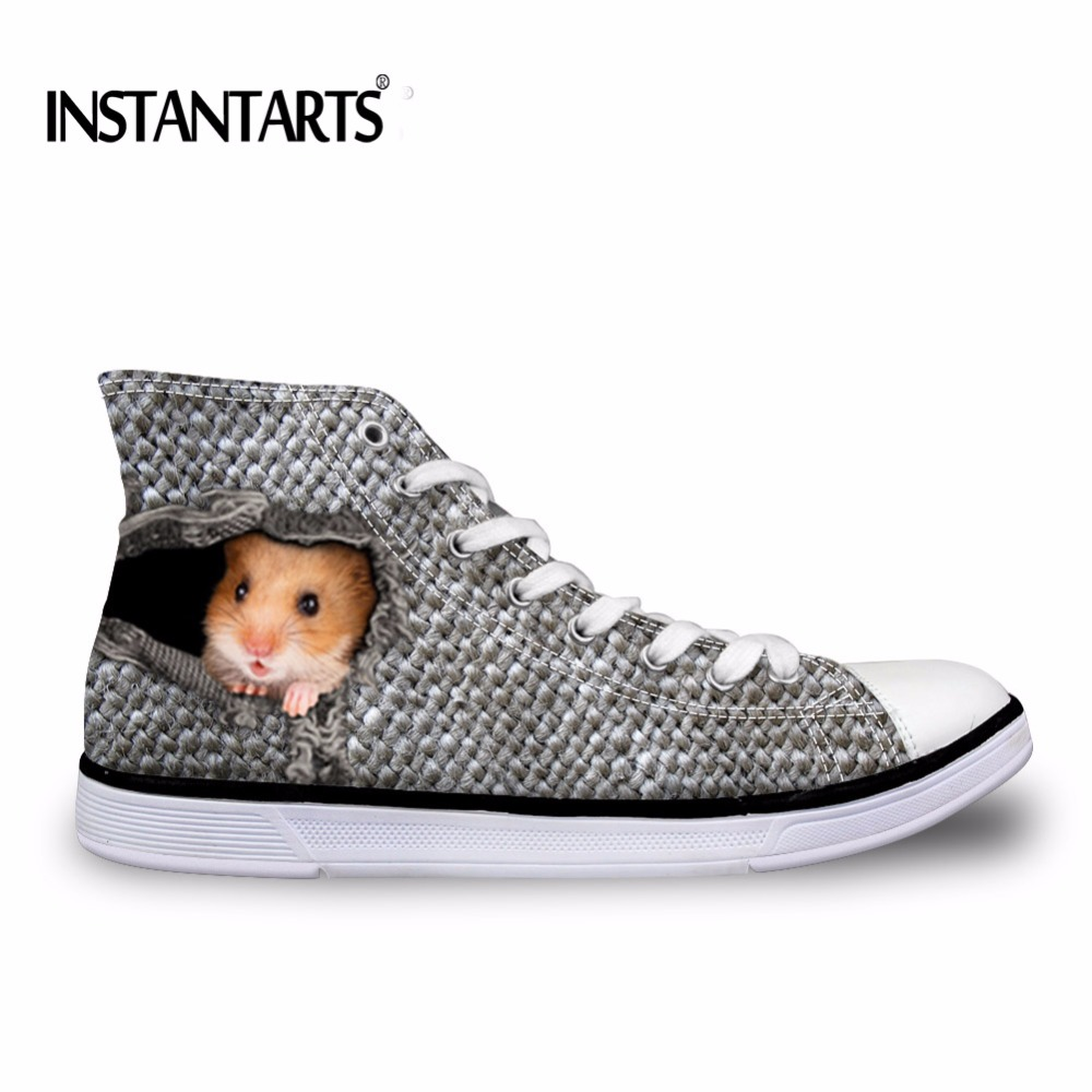 Custom Sneakers Souris ca5425ak Chat Chaussures ca5423ak Trou Vulcaniser ca5422ak ca5426ak Creative Homme Hommes Toile Instantarts ca5424ak Classique Top Dans Motif Plat Laçage ca5421ak Oiseau High Le qxwSTHFp