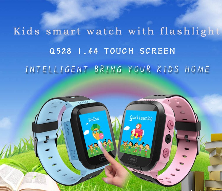 Watch Tracker Flashight Girl Electronic Kids School Boy Q528 Anti-Lost Alarm Sos-Call