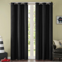 Solid Pink Ivory Princess Full Black Out Blinds Slide Fabric Window Curtain Thick High Quality Custom